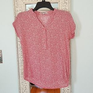 Cute blouse top coral XS